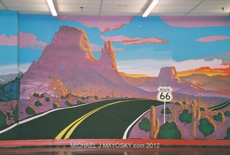 Namaste michael j mayosky for Route 66 mural