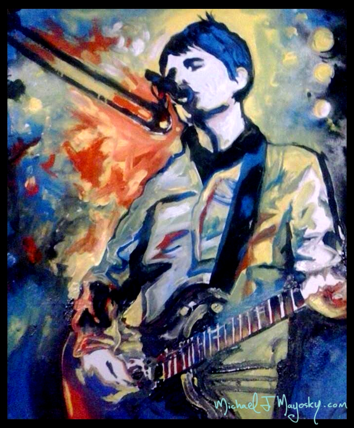 A painting of a great musician and a supporter of the arts, Matt Bellamy.
